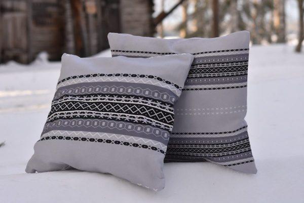 Uusi Suomussalmi -kuosiset tyynynpäälliset